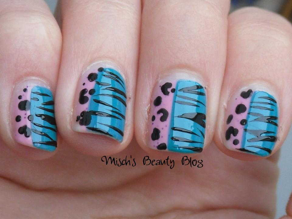 Black white cheetah nail designs
