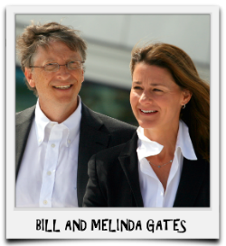 BILL AND MELINDA GATES - CLICK PHOTO TO VIEW BULLETIN
