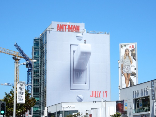 Giant AntMan light switch movie billboard