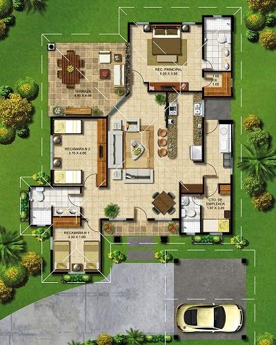 Planos de casas gratis plano universal de vivienda for Como disenar una casa de campo
