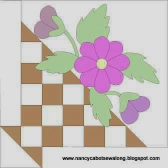 Moore About Nancy Pieced Flower Basket Quilt Block