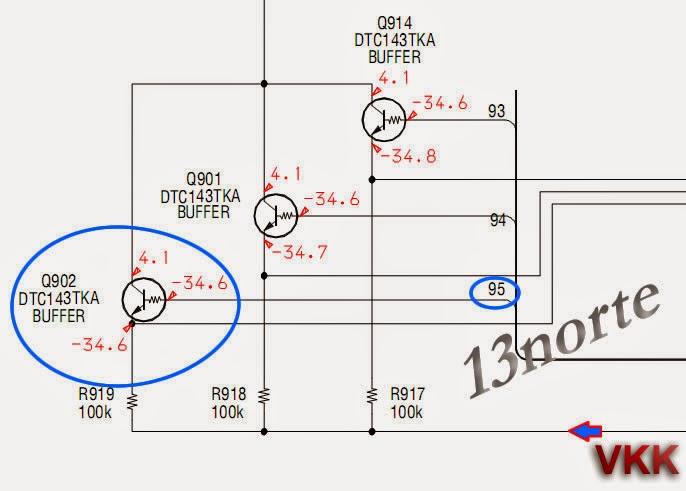 Panel board HCD-GNX60 (transistor dañado)