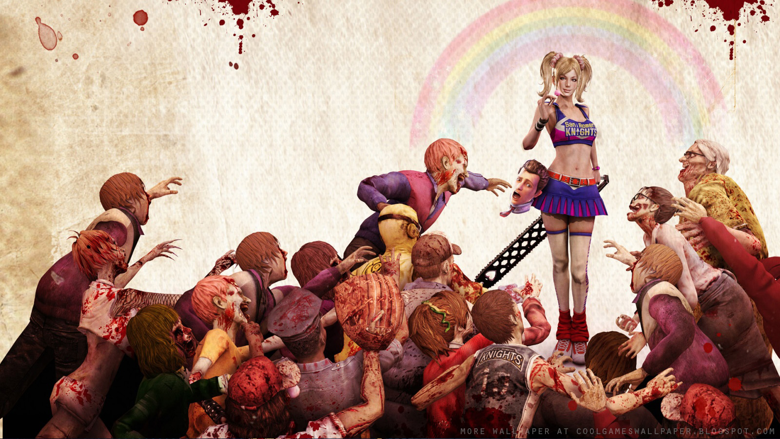 lollipop chainsaw zombie game wallpapers - Lollipop Chainsaw Zombie Game Your Wallpaper