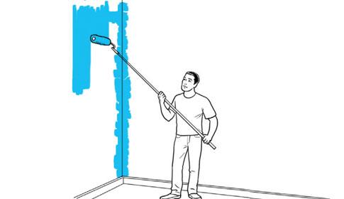 Construinfor como pintar paredes - Material para pintar paredes ...