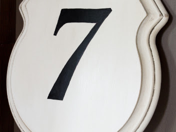 DIY Number 14 Sign