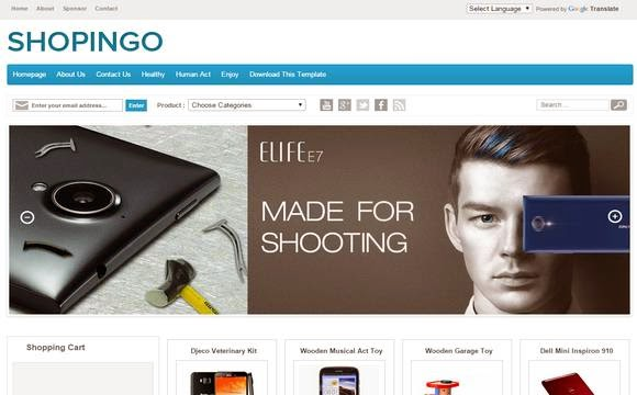 Shopingo eCommerce Blogger Template