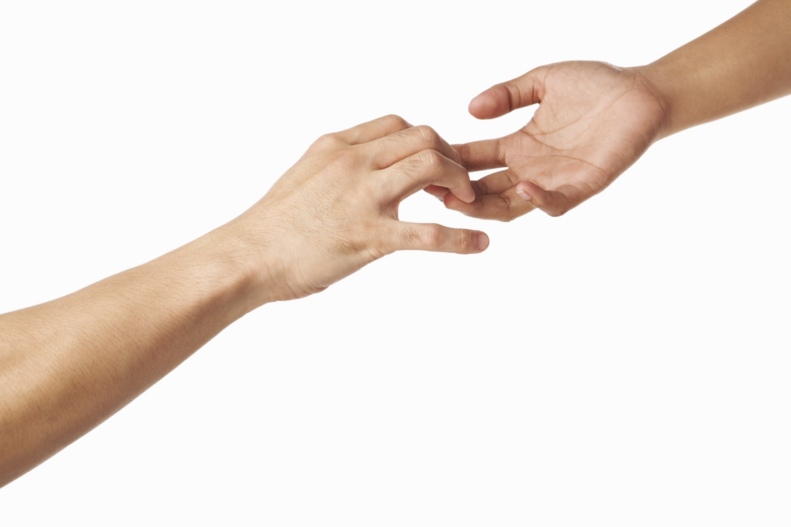 Holding hands with someone you're not dating