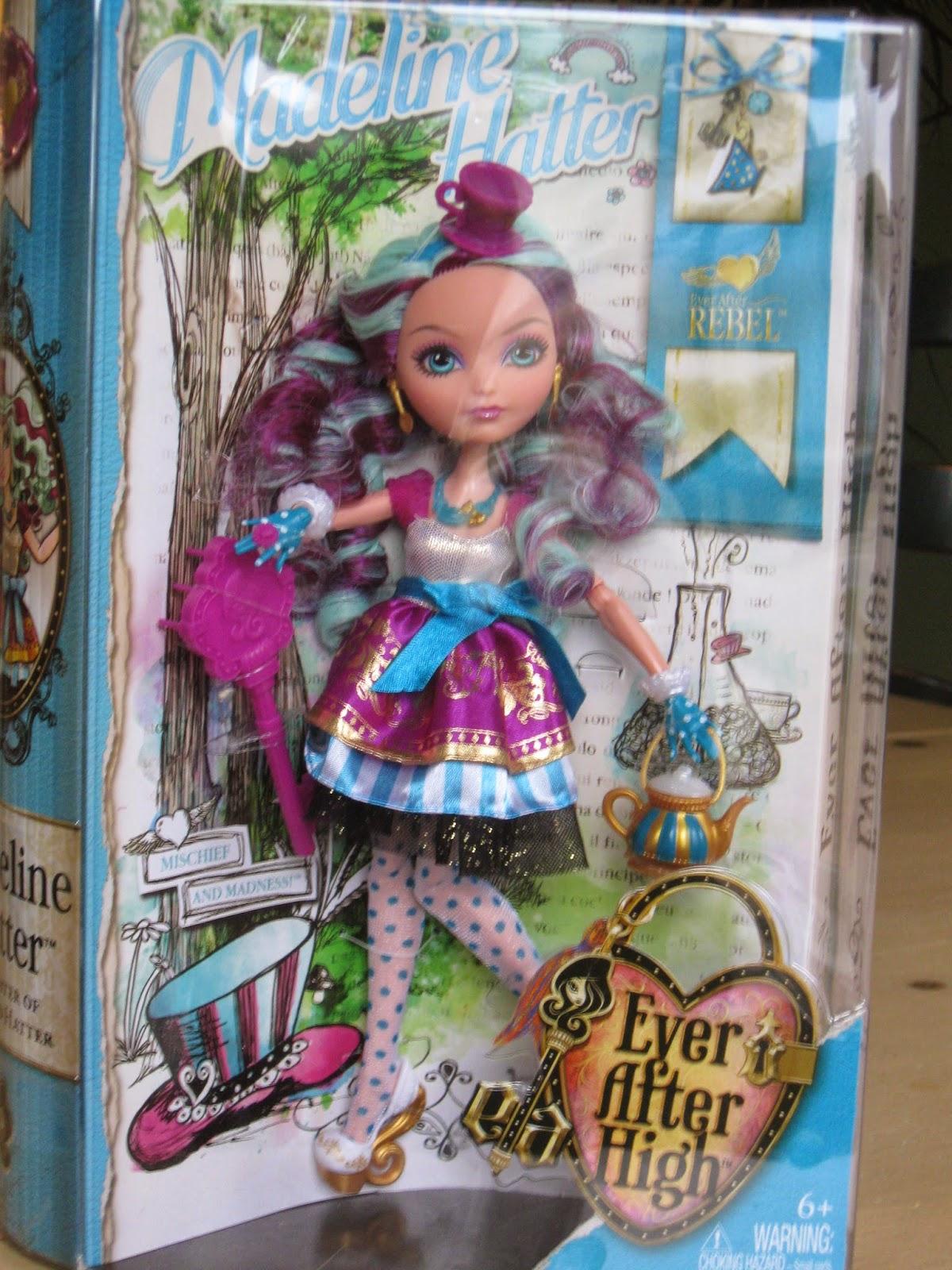 seastar studios opening ever after high doll madeline hatter