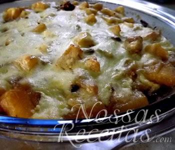receita de batata doce preparada com molho de cream cheese
