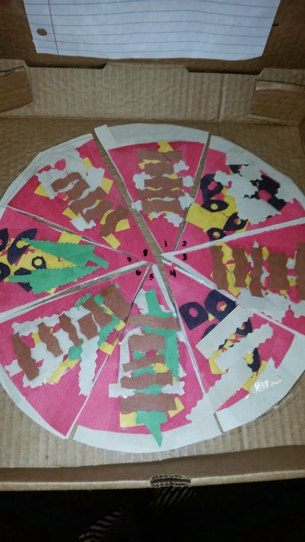 Fraction pizza worksheets 4th grade fraction pizza 4th for 4th grade craft projects