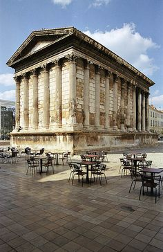 La Maison Carree Was Lucky To Survive The Fall Of The Empire. This Is  Mostly Due To The Fact That The Building Became A Church In The Fourth  Century, ...