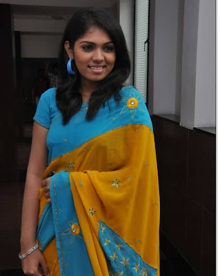Tamil Actress Bhangyanjali Saree Photos