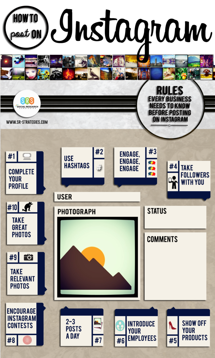 The 10 Rules That Every Business Needs To Know Before Sharing photos On instagram - infographic