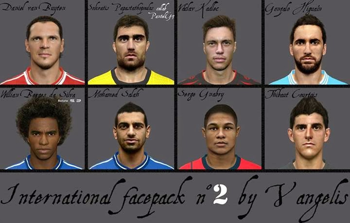 PES 2014 International facepack n°2 by Vangelis
