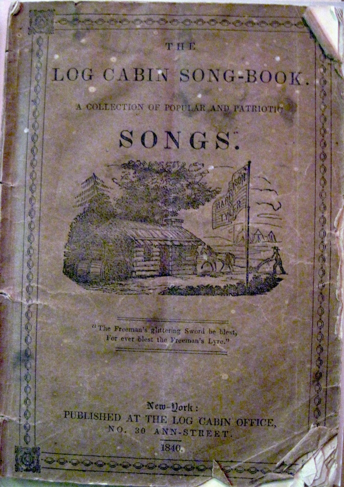 Amazing photo of  Taylor The Log Cabin Song Book (New York Log Cabin Office 1840 with #6A6049 color and 1130x1600 pixels