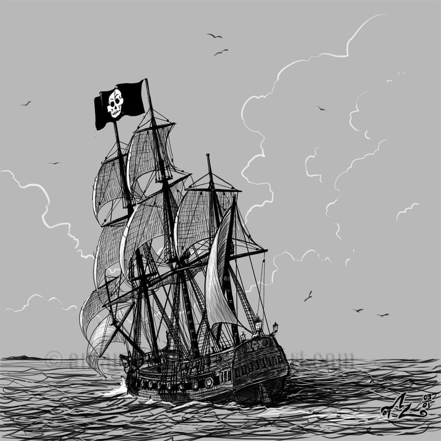 Pirate Ship Sketch