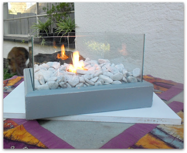 Easy DIY Portable Fire Feature with step-by-step tutorial