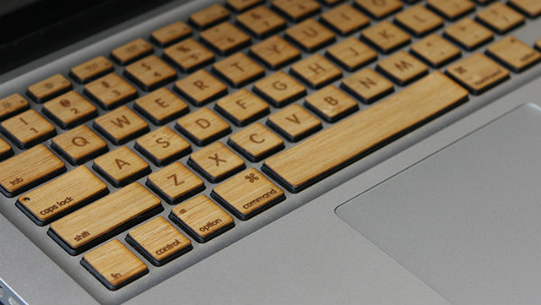 Wooden Keyboard for MacBoo Seen On www.coolpicturegallery.us