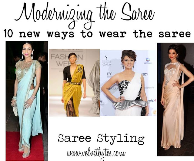 new ways to drape the saree