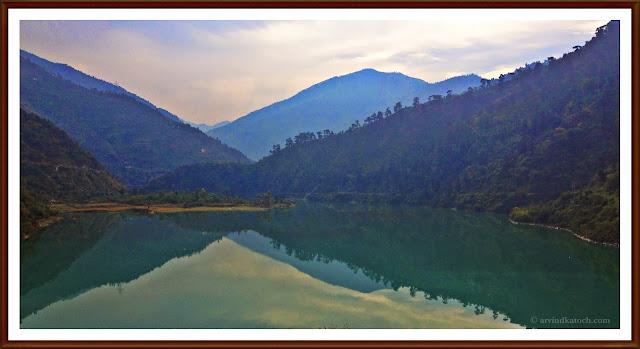 Pandoh Lake, Lake, Mandi, Kullu, Refection of Hills