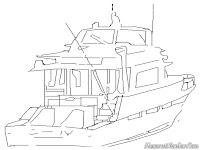 Mewarnai Kapal Speed Boat