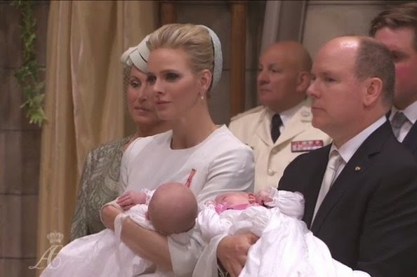 The Baptism Of the Princely Twins, Prince Jacques and Princess Gabriella At Monaco