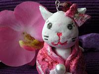 modellierte Geisha Katze