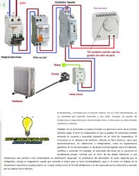 termostato radiador contactor 2polos