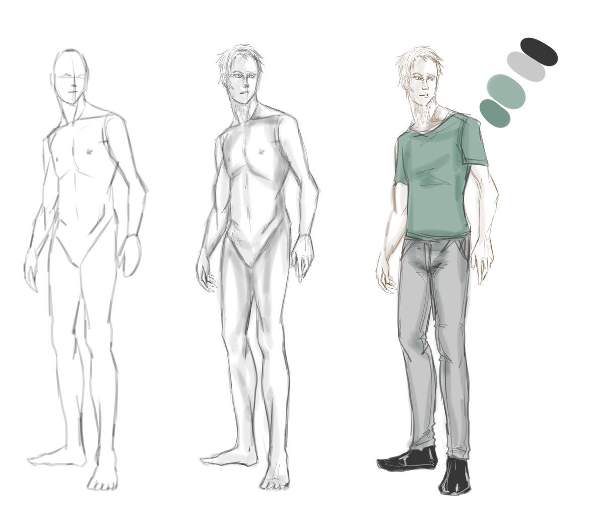 Beverly Charoensap -Digital animation: Character anatomy sketch