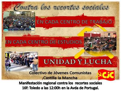 [CJC PCPE C-LM] Manifestación y Comunicado ante la Manifestación Regional del sabado 16 Regional
