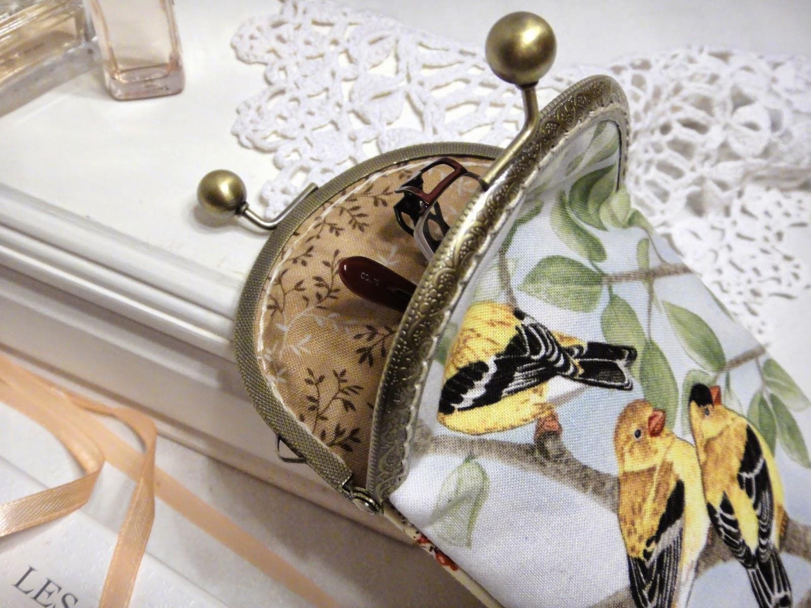 Мягкий очечник с фермуаром - мягкий чехол для хранения очков