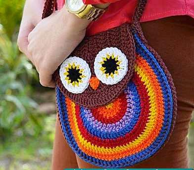 """Bolsito """"Búho"""" a Crochet o Ganchillo"""