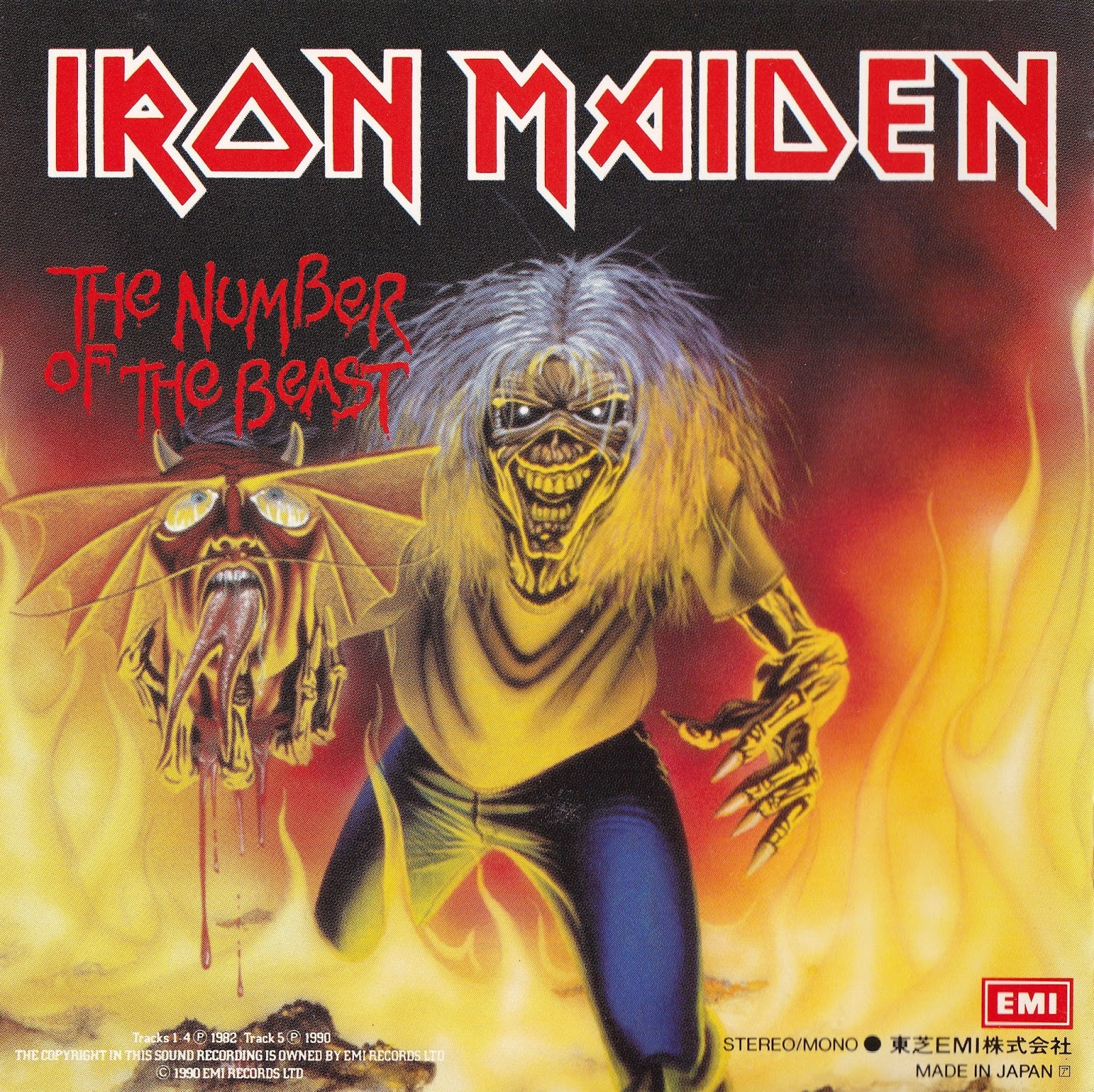 Iron Maiden Number Of The Beast Single MUSICA DURA