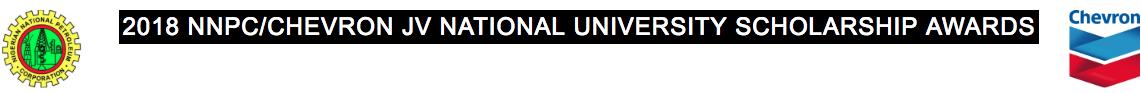 NNPC / Chevron JV National University Scholarship 2018