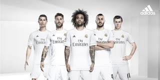 enkosa sport toko online baju bola terpercaya Pemain Real Madrid memakai jersey terbaru musim 2015/2016