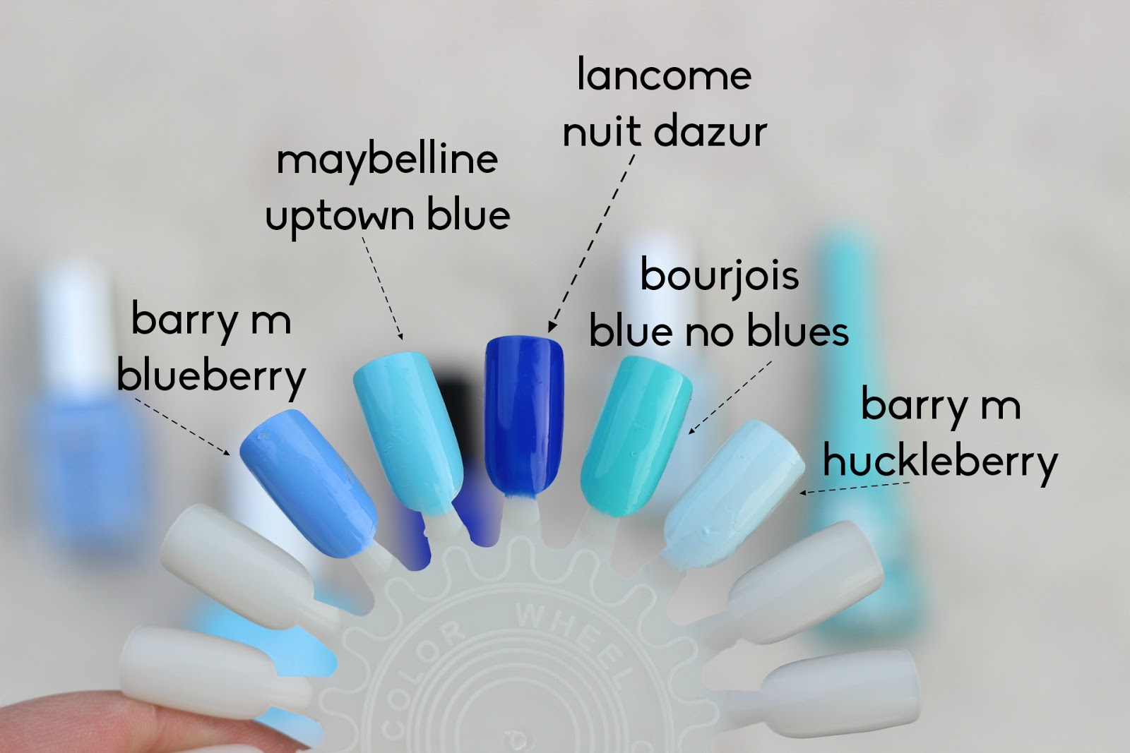 blue nail polish swatches