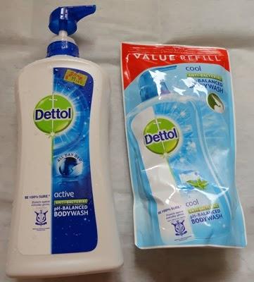 Beli shower Dettol dapat free refill 550 ml