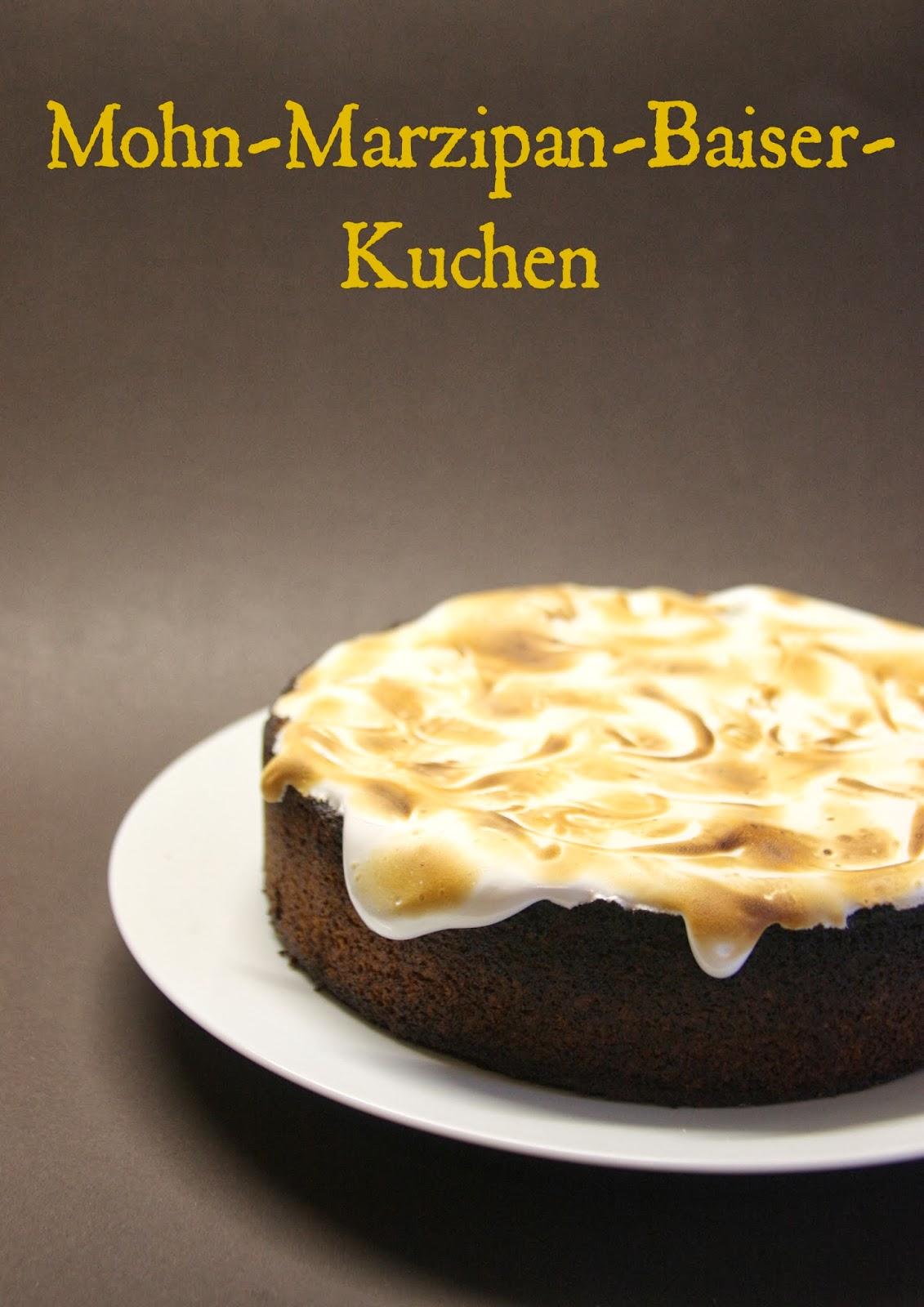 Oh Mimmi Sonntags Mohn Marzipan Baiser Kuchen