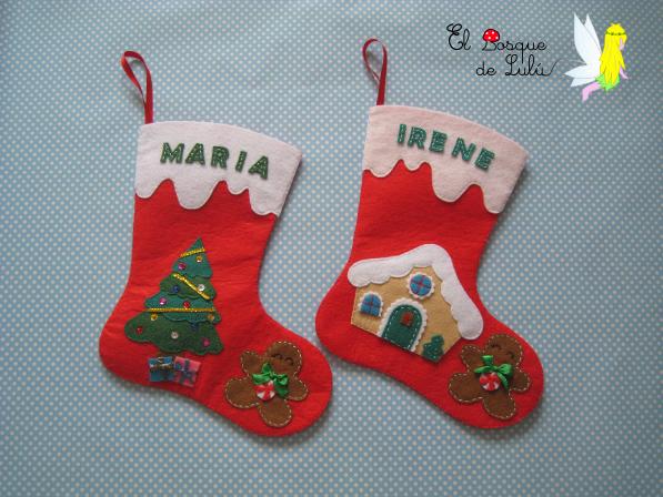 Botas-Navidad-calcetines-fieltro-personalizada-en-de-regalo-infantil-decoración