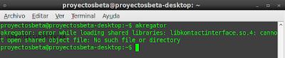 Imagen de un error con akregator en Ubuntu 10.04