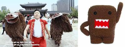 Psy brown dragons Domo-kun Japan