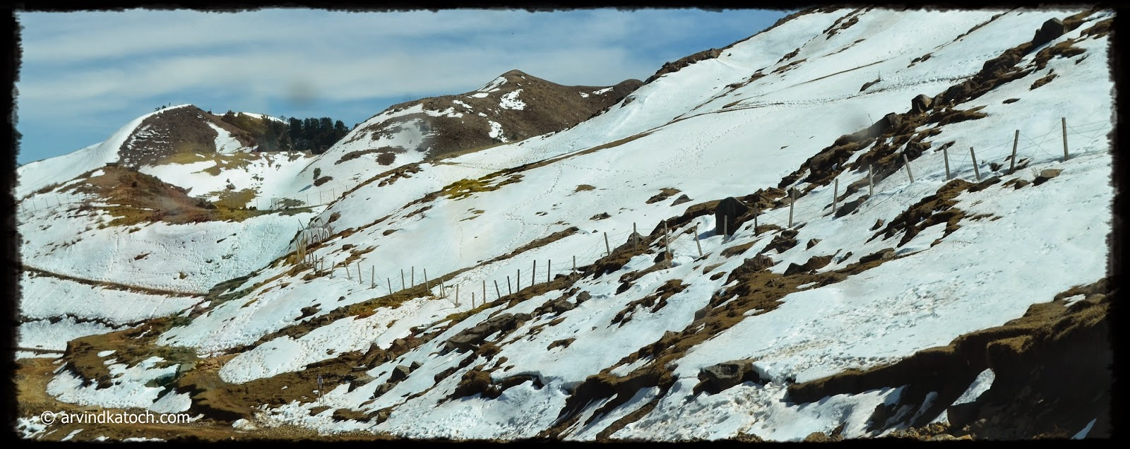 Snow, Top of Hill,