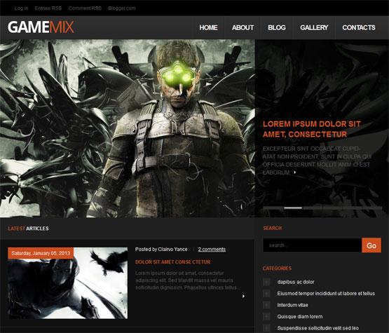 GameMix Blogger Template