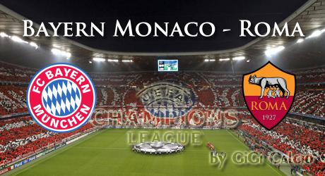 Risultato BAYERN MONACO ROMA in DIRETTA Live Video Gol in tempo reale Calcio Champions League