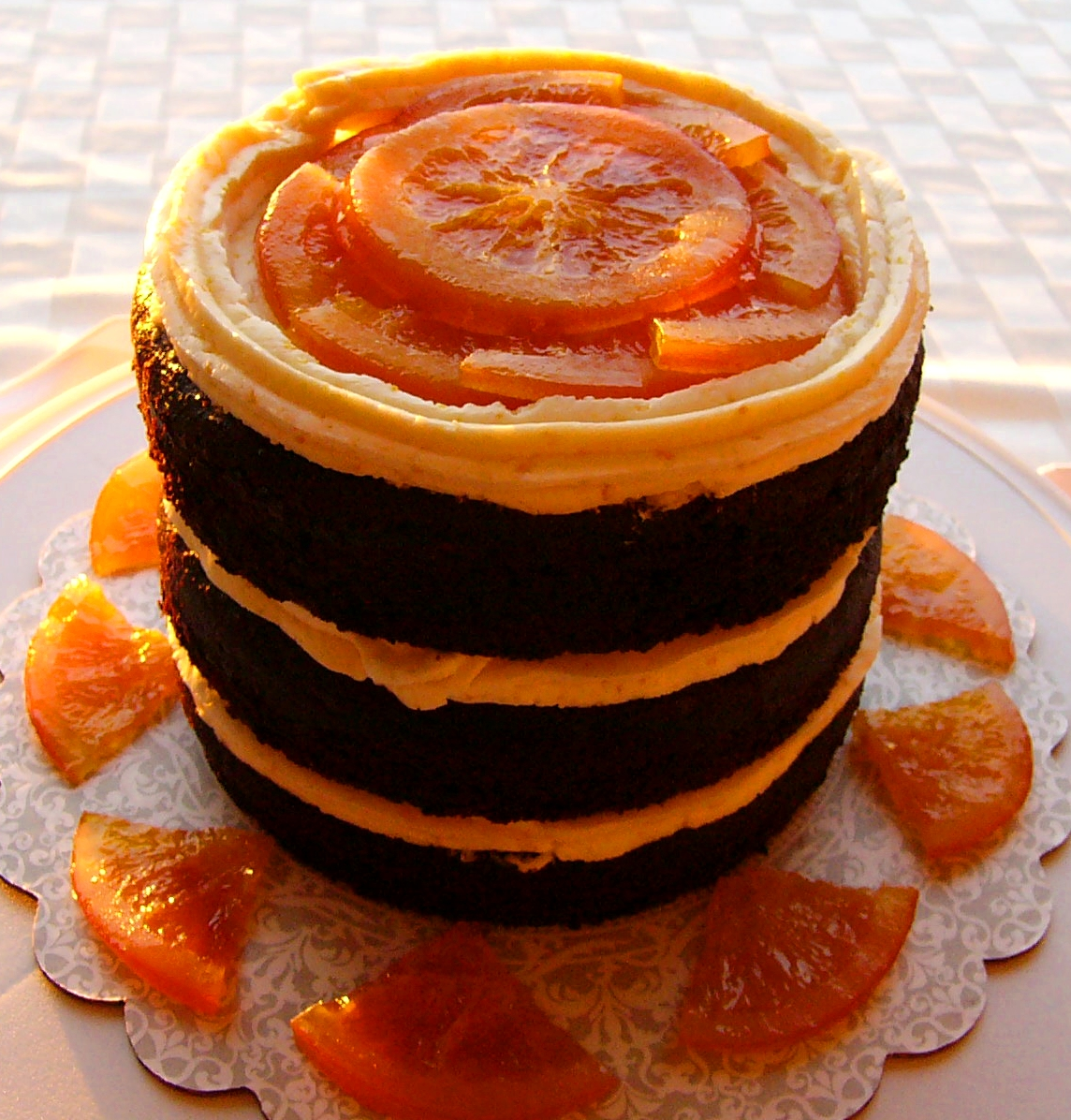 "Naked"" Chocolate Orange Cake 