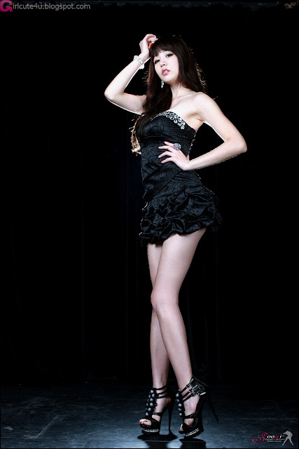 5 Hong Ji Yeon in Black-Very cute asian girl - girlcute4u.blogspot.com