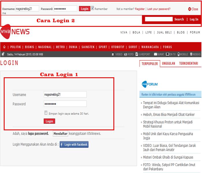 form login di vivanews