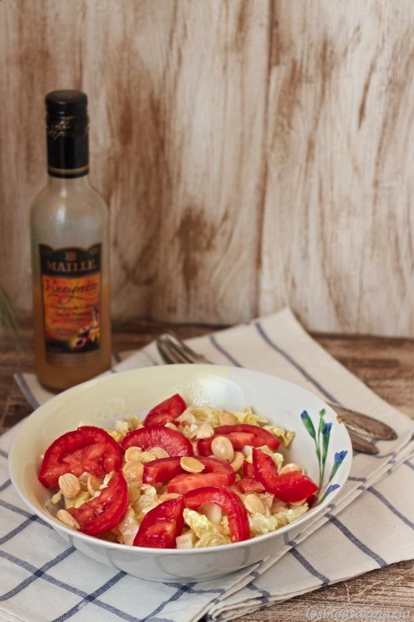 Ensaladas de tomate con vinagreta de manzana