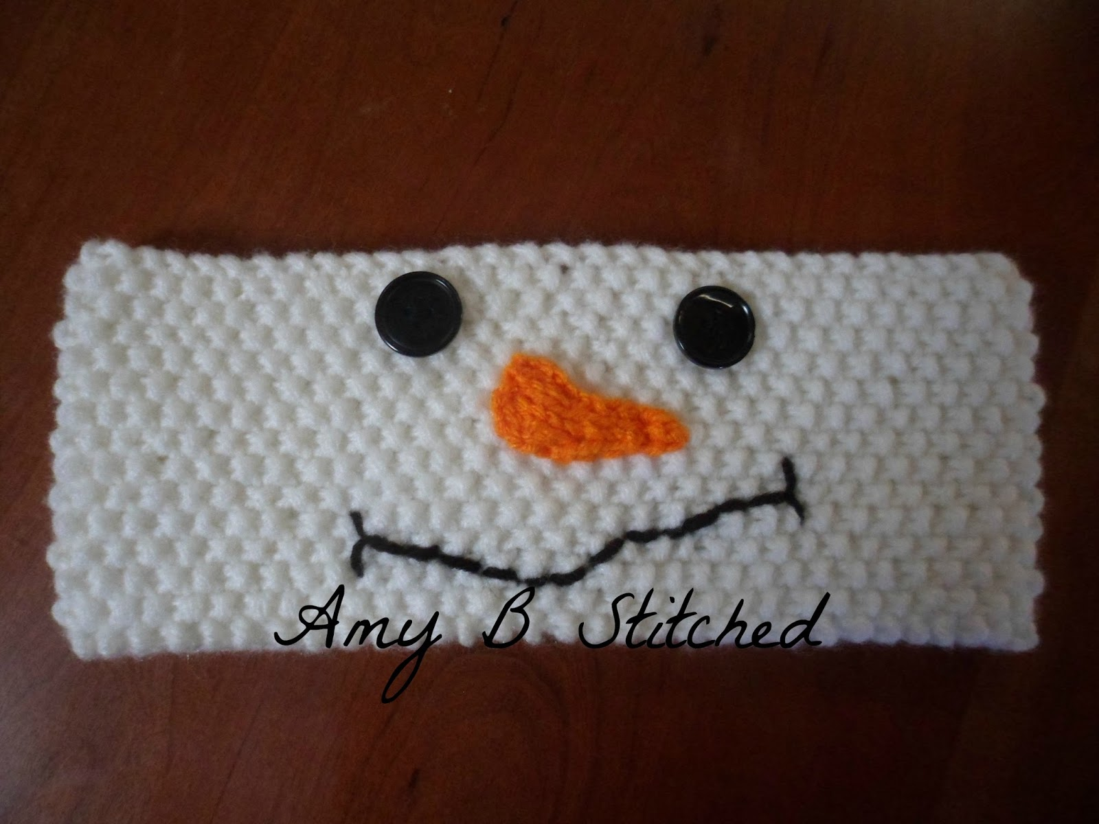 A Stitch At A Time for Amy B Stitched: Mr. Snowman Headband FREE ...