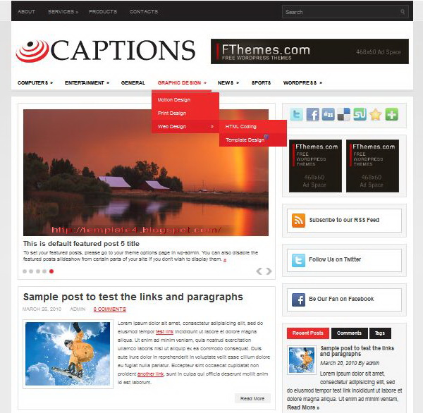 Captions WordPress Theme